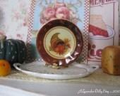 Harvest Cornucopia Plate for Dollhouse