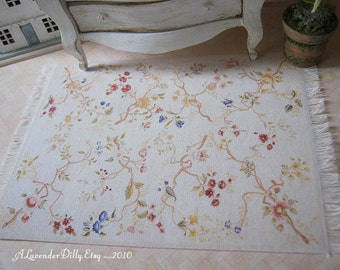 M Provincial Country Dollhouse Fringed Rug