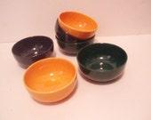 Melitta Serving bowls - Vintage - 6 Pieces in yellow - blue - dark green