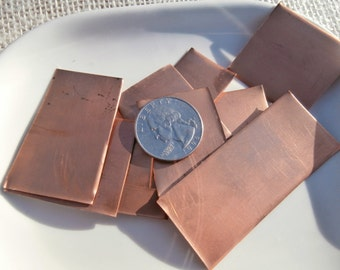 9 small pieces of copper sheeting Destash! S0013