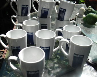 12 clean vintage ONEIDA advertising italy italian LAVAZZA COFFEE cups mugs porcelain    a