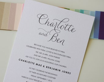 Pretty Wedding Invitation: The Charlotte Suite