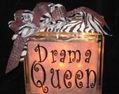 Drama Queen Glass Block Light