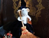 Sweety Witch Mouse-  READY TO SHIP