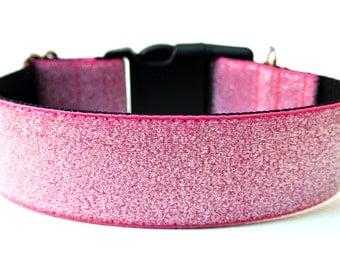 """Large Dog Collar 1.5"""" Glitter Dog Collar"""