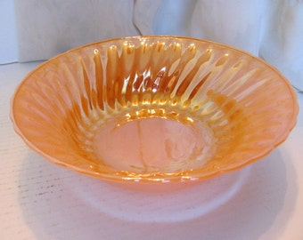 Fire King Shell Patterned Luster Serving Bowl