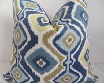 SALE PILLOW COVERS- Outdoor/Indoor Pillow Covers,Blue Pillows,Navy Blue Pillows,Green Pillow, Brown Pillow, Blue Pillow cover