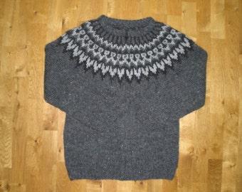 Icelandic mens wool sweater/cardigan with zipper, S-M-L-XL-2XL-3XL-4XL-5XL-6XL, made to order