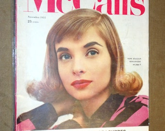 Rare Mid-Century Magazine MCCALLS Mc Call's November 1955 Complete Vintage Fashion Design House Ads Eames Mad Men Era Betty Draper 1950's
