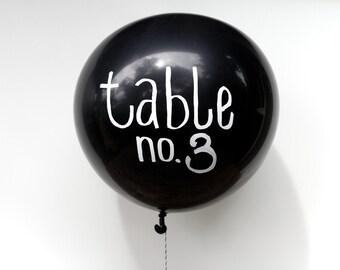 "Wedding Chalkboard 17"" Balloons, Set of 10 & Chalk Pen, Wedding Sign, Wedding Decor, Decoration, Wedding Table Numbers, Wedding Trends"