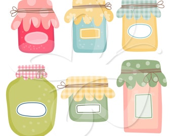 Preserves Clipart Set - Jam and Pickles anyone?