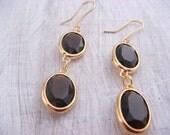 Gold Elegance Earrings (gift for her, dangle earrings, womens fashion, fashion jewelry, bridal jewelry)