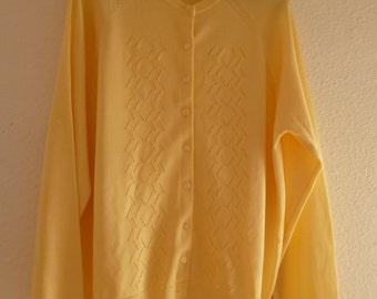 Vintage 1960s yellow cardigan