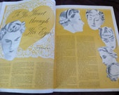 RESERVED FOR lboop - Magazine Vintage Delineator February 1936 Fashions, Beauty, Hairstyles, Hats