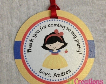 Snow White Favor Tags - set of 12