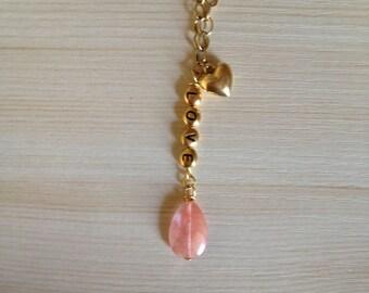 SALE! LOVE Charm Necklace