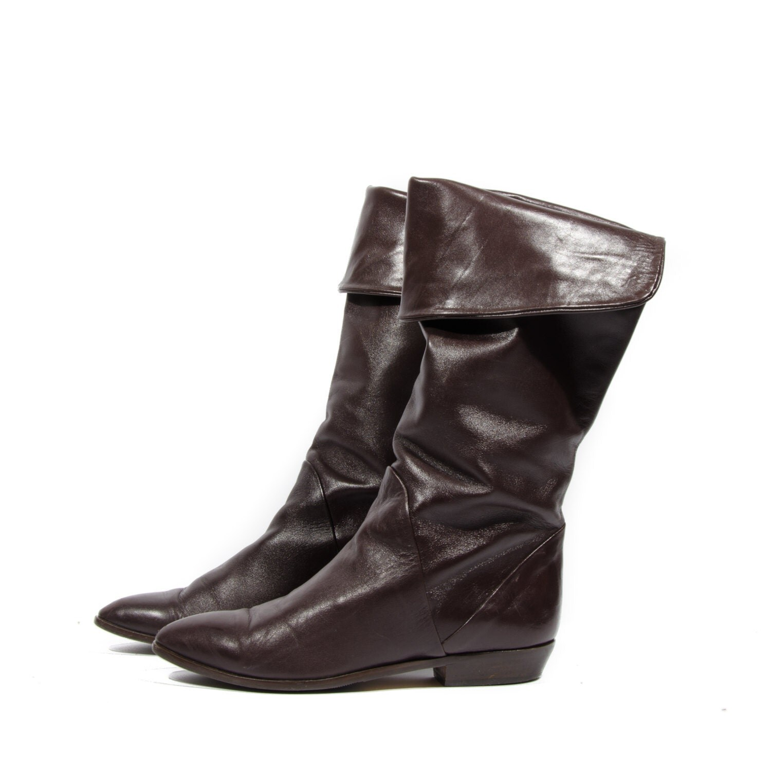 80 s vintage bandolino pirate fashion boots brown leather