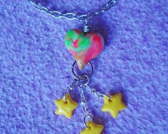 Tye Dye Star Dangle Necklace