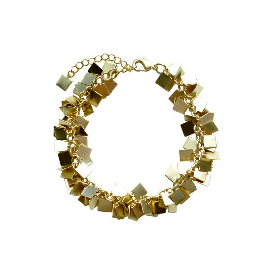 Charm Chain Bracelet - Gold Square