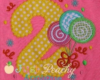 Lollipop Trio Number 2 Machine Embroidery Applique Design