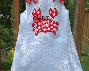 girls summer crab dress