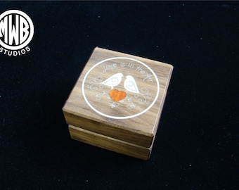 Love is in the Air ring box.  Free shipping and engraving.  RB 63