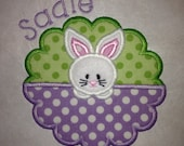 Girls Easter Shirts - Easter Bunny Applique