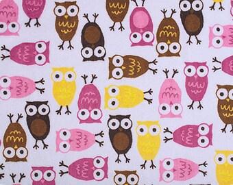 Robert Kaufman Cuddle Minky - Night Owls Mango/Chocolate