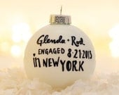 Engagement Text Ornament