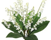 Artificial Lily of the Valley Bush White, Fake Lily of the Valley, 132 delicate blossoms.