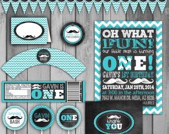 Mustache Birthday Party First Birthday Invitation Boy Birthday Invitation Mustache 1st Birthday Mustache Party