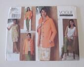 VOGUE sewing Pattern dress pants jacket uncut- sizes 14-18