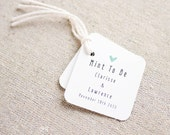 Mint To Be Wedding Favor Tags - Personalized Gift Tags - Custom Wedding Favor Tags - Bridal Shower Tags - Set of 24 (Item code: J453)