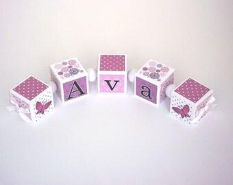 Nursery Decor - Wooden Baby Name Blocks - Customized Blocks - Baby Shower Gift