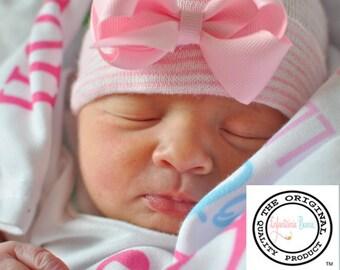 newborn girl, baby girl, newborn hospital hat