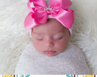 newborn hospital hat, newborn girl, READY TO SHIP, baby girl hat, baby girl, hospital newborn hat, newborn hat, infant hat, baby hat