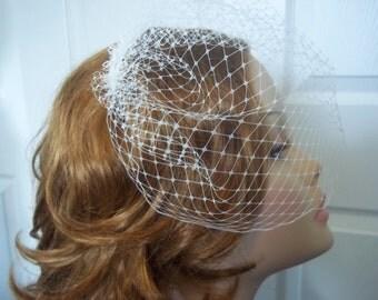 """Birdcage Veil - 9"""" Blusher"""