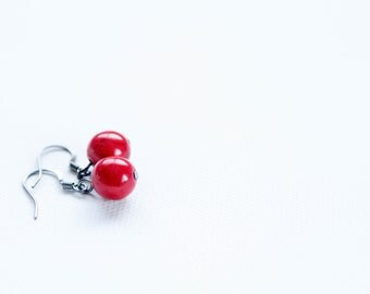 Simple Red Bead Dangles