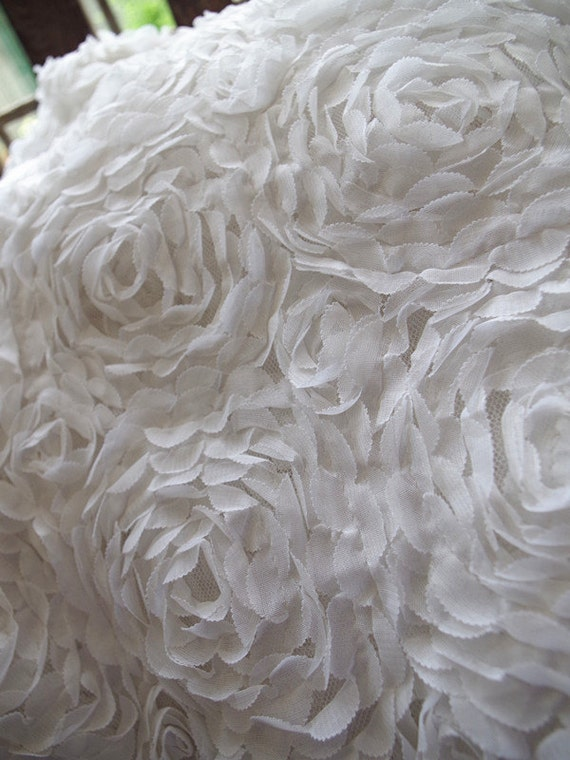off white chiffon roette fabric Bridal fabric photography