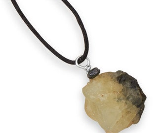 MEN'S 22 INCH Fashion Necklace with Prehnite Pendant