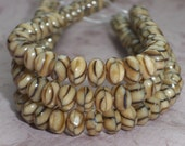 Brown Beige Bead 4x7mm Czech Glass Faceted Rondelle SAFARI (29)
