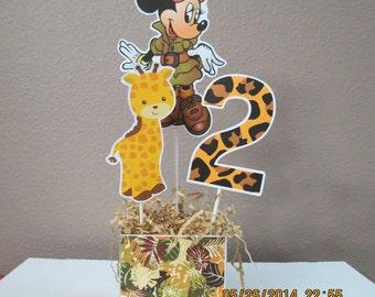 Safari Minnie Centerpiece (DIY)
