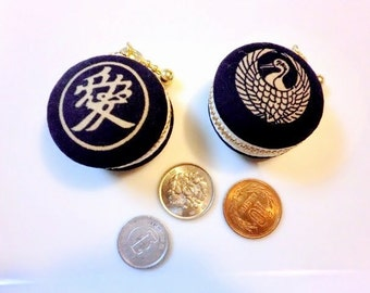 Japanese Kamon/kimono  Macaron/macaroon coin case