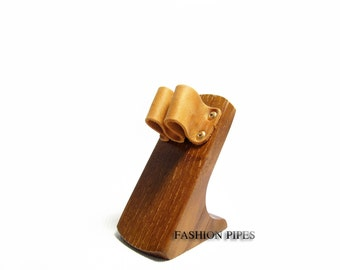 Quality Ash-Tree Wooden Pipe Stand-Showcase, NEW Rack Holder for Tobacco Smoking Pipe. NEW Handmade.