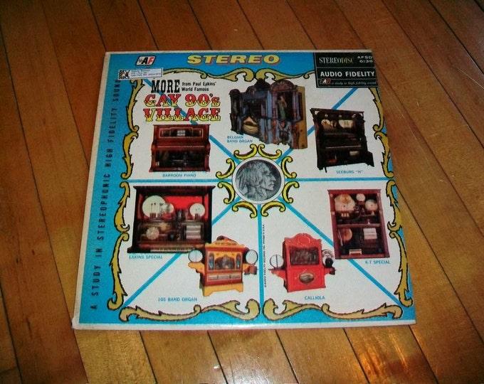 Gay Nineties Nickelodeon Music Record Album Vintage 1965 AFSD 6138