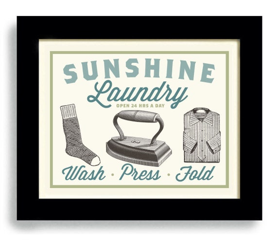laundry room decor wall art print bathroom art wash