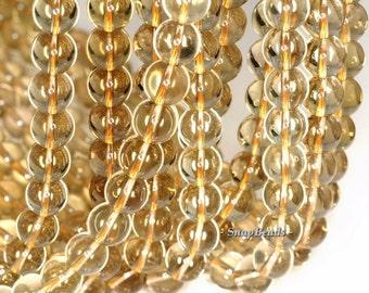 8mm Lemon Quartz Gemstone AAA Yellow Round 8mm Loose Beads 15.5 inch Full Strand (90147177-426)
