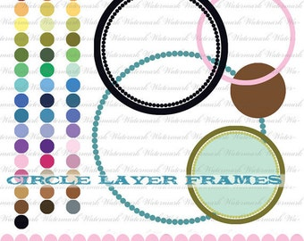 dot frame clip art clipart circle line digital frame clip art circle clipping mask frame Bard : c0221 & RB v301 black white