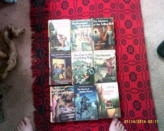 Nine Nancy Drew Mystery's