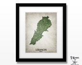 Lebanon Map Print - Home Is Where The Heart Is Love Map - Original Custom Map Art Print Available in Multiple Size and Color Options